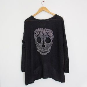LF Chandelier Sweater with Skull on Back